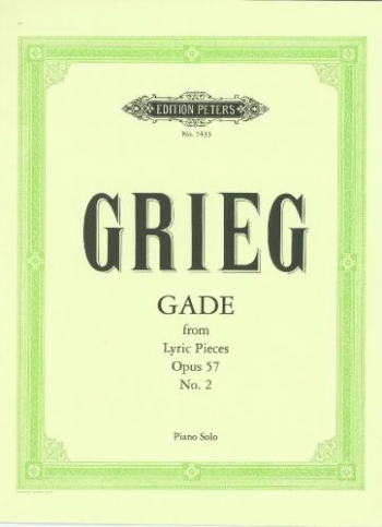 Gade From Lyric Pieces: Op57 No 2: Piano (Peters)