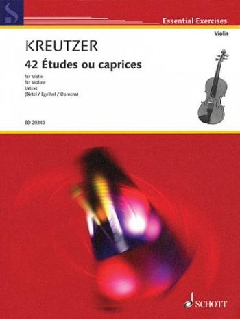 42 Studies Or Caprices: Violin Solo (Birtel/Egelhof/oomens) (Schott)