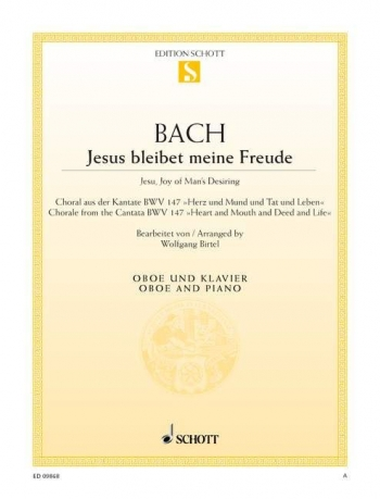 Jesu Joy Of Mans Desiring: Oboe And Piano (Schott)