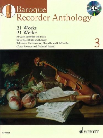 Baroque Recorder Anthology: Vol.3: 21 Works: Recorder: Book And CD