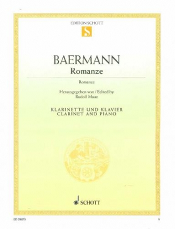 Romanze: Clarinet & Piano (Schott)