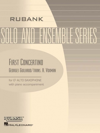 First Concertino For Alto Saxophone And Piano