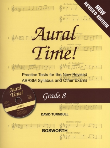 Aural Time: Grade 8: Practice Tests: Book & CD: New Edition Revised ABRSM 2011