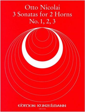 Sonatas For Horns Sonatas 1 2 & 3 (Peters)