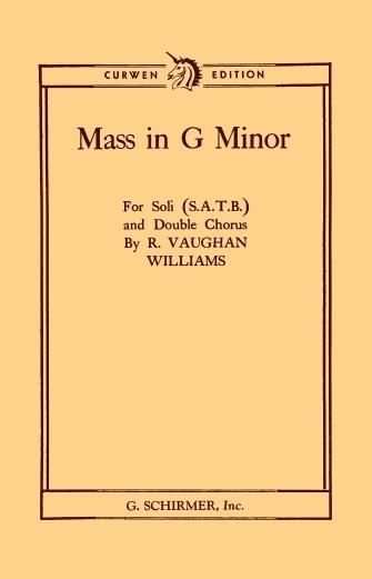 Mass In G Minor: Vocal Score