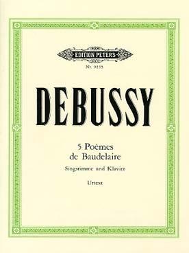 5 Poemes De Baudelaire: Voice & Piano (Peters)