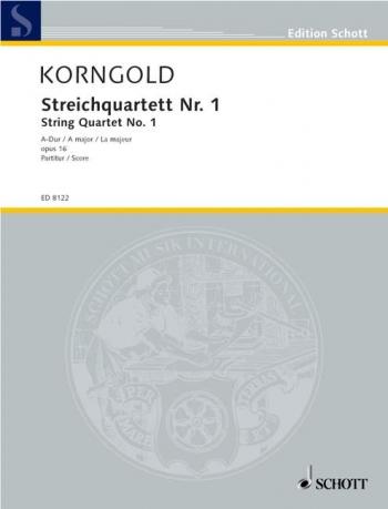 String Quartet No 1: A Major: Op 16: Score