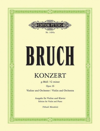 Violin Concerto No.1 G Minor Op.26: Violin (Menuhin) (Peters)