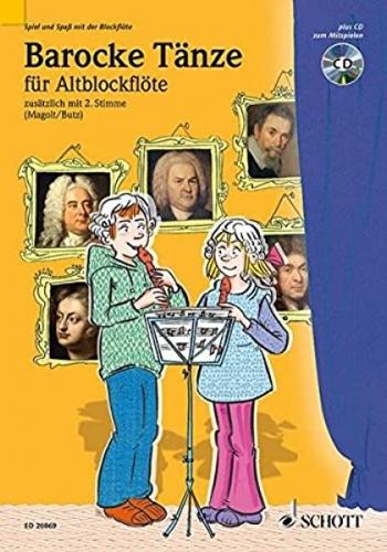 Baroque Dances: Descant Recorder: Solo Or Duet: Book & CD