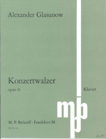 Grand Concert Waltz In Eb Major: Op41: Piano (Belaieff Ed)