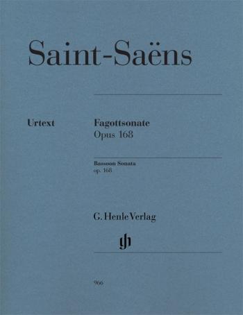 Sonata In G Op.168: Bassoon & Piano (Henle)