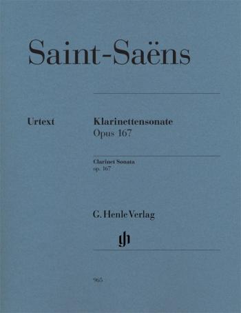 Clarinet Sonata: Op167 Clarinet & Piano (Henle)