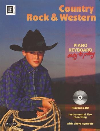 Country Rock And Western: Easy Piano Or Keyboard: Bk&cd