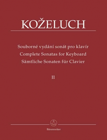 Complete Sonatas For Keyboard: Vol2: Piano (Barenreiter)