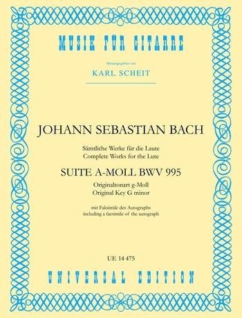 Suite In A Minor: Bwv 995: Guitar (Universal)