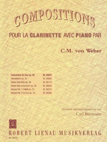 Concertino Eb Major Op26: Clarinet & Piano (Ricordi)