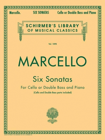 6 Sonatas: Cello Or Double Bass & Piano (Schirmer)