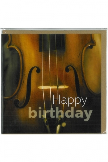Square Greeting Card: Cello Happy Birthday