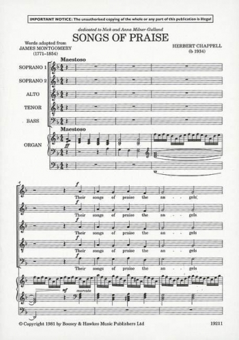 Songs Of Praise: Vocal: SATB And Organ