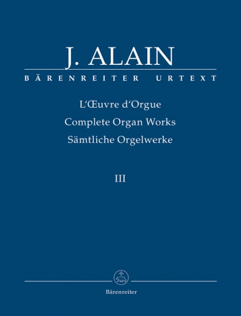 Complete Organ Works: Vol.3  (Barenreiter)