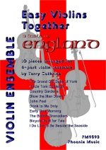 Easy Violins Together: A Taste Of England: 10 Pieces For 4 Part Ensemble