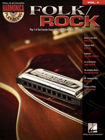 Harmonica Play Along Vol 4: Folk/Rock: Bk &Cd