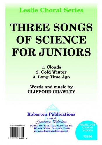 Three Songs Of Science For Juniors: Vocal: Solo Song