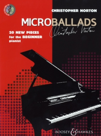 Microballads: 20 New Pieces For The Beginner Pianist: Bk&cd (Norton)