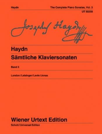 Complete Piano Sonatas Vol.3 (Landon) (Wiener Urtext)