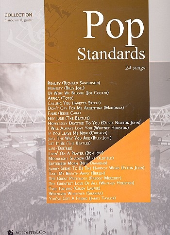 Pop Standards: 24 Songs: Piano Vocal Guitar