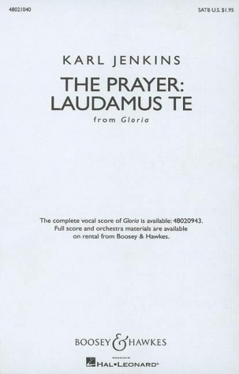Laudamus Te: The Prayer From Gloria: Vocal Score