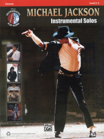 Michael Jackson: Instrumental Solos: Clarinet: Level 2-3: Book And CD