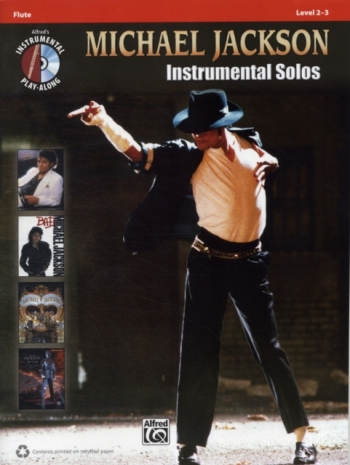 Michael Jackson: Instrumental Solos: Flute: Level 2-3: Book And CD
