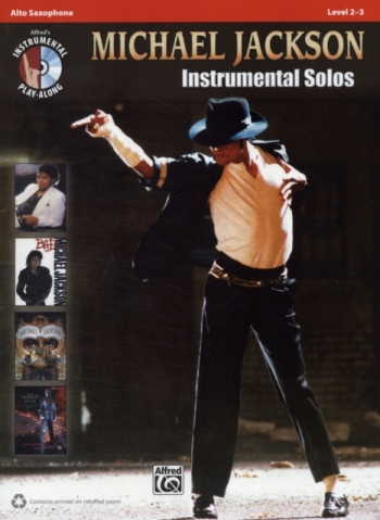 Michael Jackson: Instrumental Solos: Alto Sax: Level 2-3: Book And CD