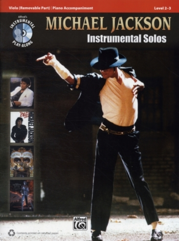 Michael Jackson: Instrumental Solos: Viola: Level 2-3: Book And CD