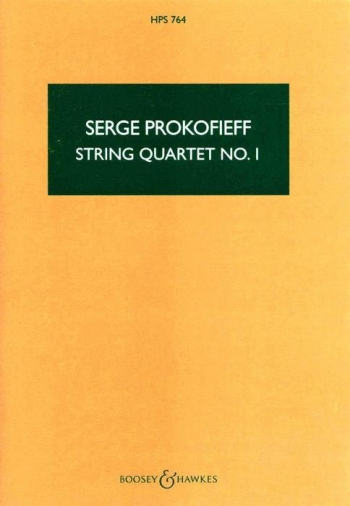 String Quartet No.1 Op.50: Study Score