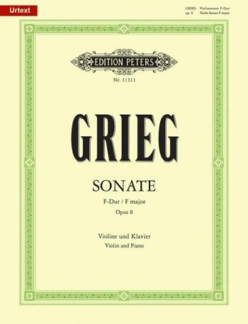 Sonata No.1 F Major Op.8: Violin And Piano (new Ed) (Peters)