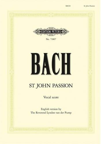 St John Passion: Vocal Score: English Version (Peters)