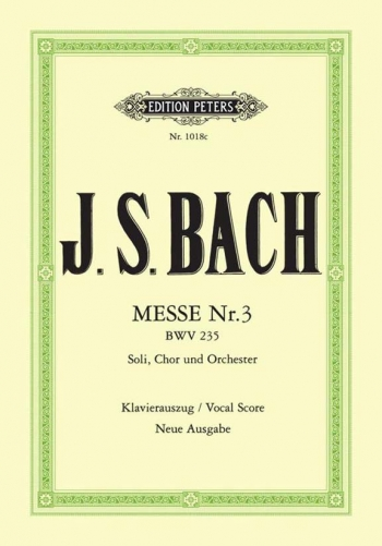 Mass No 3 In G Minor: Bwv235: Vocal Score