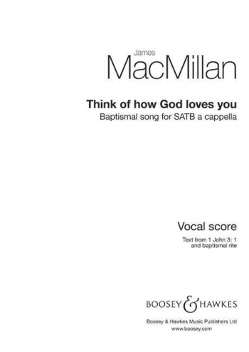 Think Of How God Loves You: Satb A Cappella
