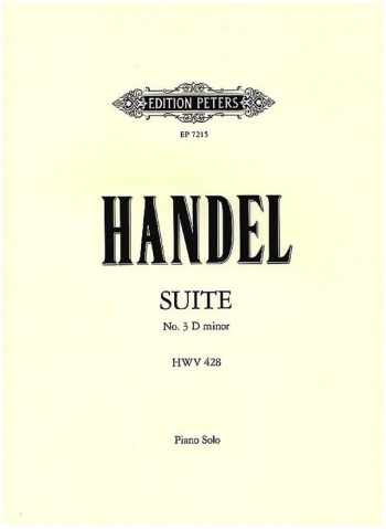 Suite No 3: D Minor: Piano (Peters)