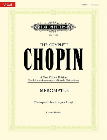 Impromptus: Piano: New Critical Edition  (Peters)