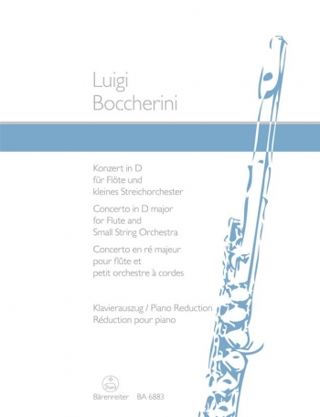 Flute Concerto D Major OP27 Flute And Piano (Barenreiter)