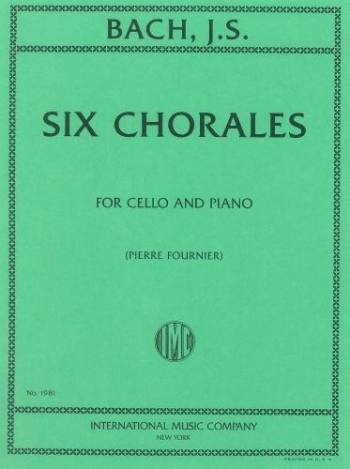 6 Chorales: Cello & Piano (International)