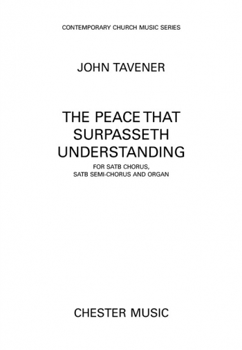 The Peace That Surpasseth Understanding: Vocal: SATB & Organ