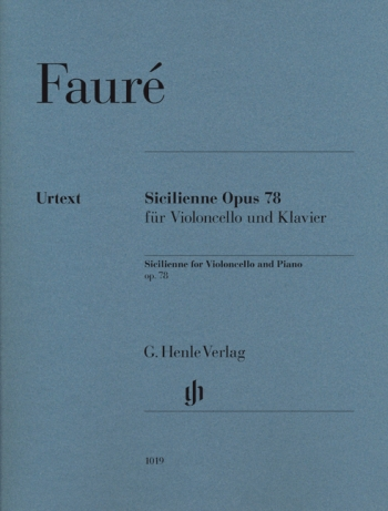 Sicilienne: Op78: Cello & Piano (Henle)