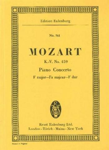 Piano Concerto No.19: F Major: Kv459: Miniature Score