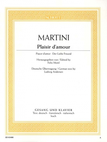 Plaisir Damour: G Major: High Voice And Piano