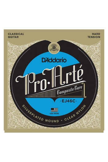 D'Addario Classical Guitar Ej46C Proarte Composites Silver Hard Tension