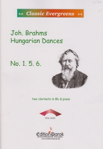 Hungarian Dances: 1&5&6: Clarinet Duet And Piano (Balogh)